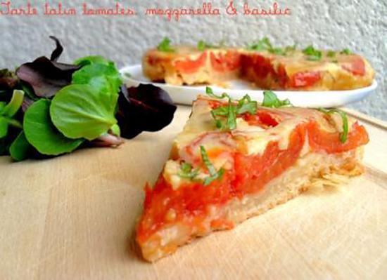 recette de tarte tatin tomates mozzarella basilic. Black Bedroom Furniture Sets. Home Design Ideas