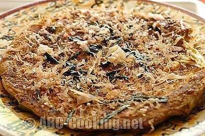 recette Okonomiyaki au poulet, crêpe salée japonaise.