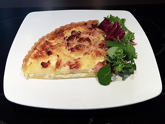 recette Tarte oignons lardons pommes de terre