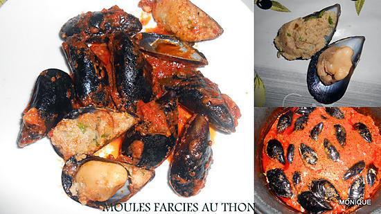 recette MOULES FARCIES AU THON
