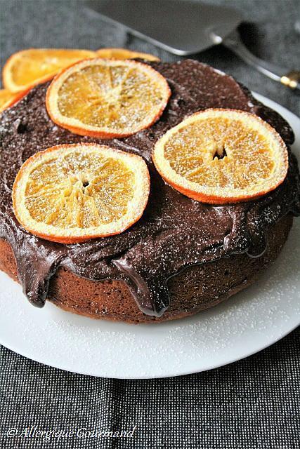 recette Cake à l'orange { sans gluten, sans lait, sans oeufs }