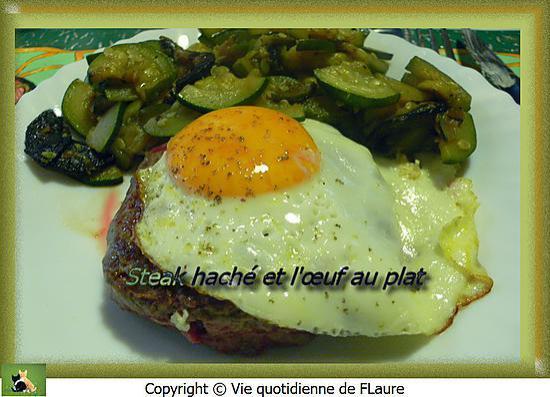recette Steak haché et l'œuf au plat