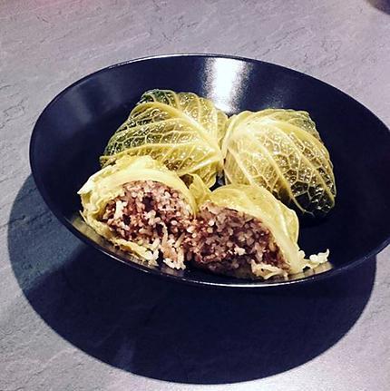 recette Choux verts farcis au boeuf