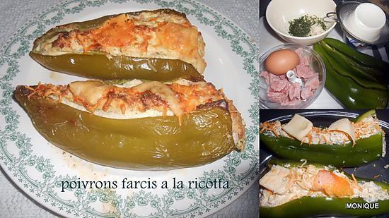 recette POIVRONS FARCIS A LA RICOTTA