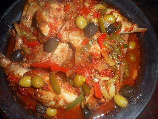 recette Lapin aux deux olives