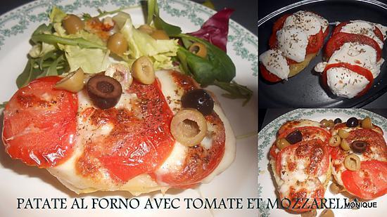 recette de pommes de terre au four tomate mozzarella olives. Black Bedroom Furniture Sets. Home Design Ideas