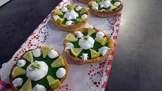 recette Gourmandes  tartelettes façon .. Mojito ..  au citron vert & menthe peppermint