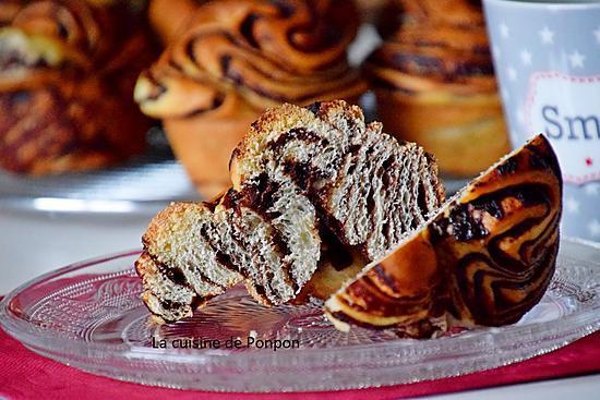 recette Brioche tourbillon de chocolat