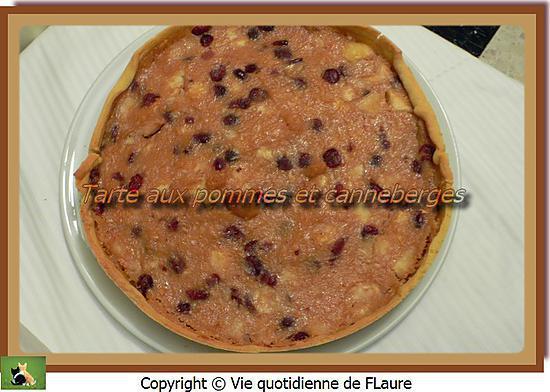 recette Tarte aux pommes et canneberges