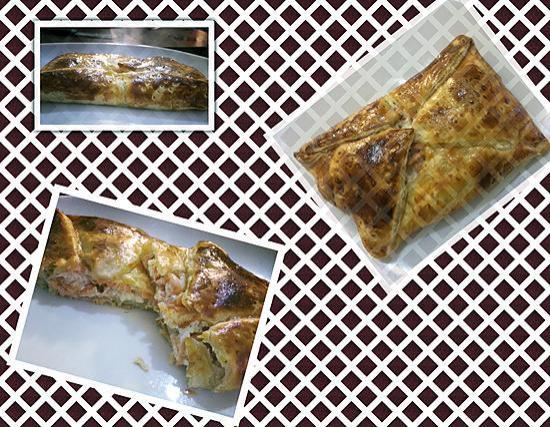 recette Panier feuilleté Saumon Fumé Chèvre