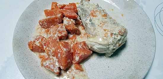 recette Lotte aux patates douces curry coco