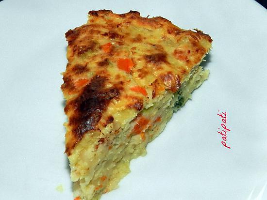 recette Soufflé de pomme de terre aux poissons et sa brunoise de légumes