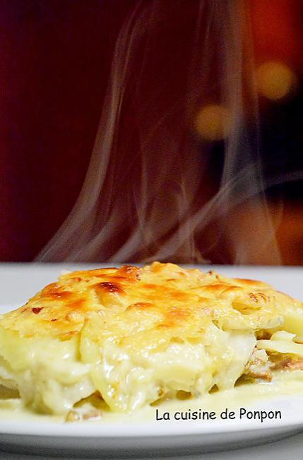 recette Gratin de céleri rave, pommes de terre et gorgonzola