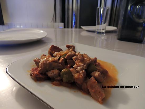 recette Sauté de dinde au chorizo au Cookéo