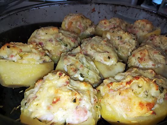 recette Pommes de terres farcies jambon fromages