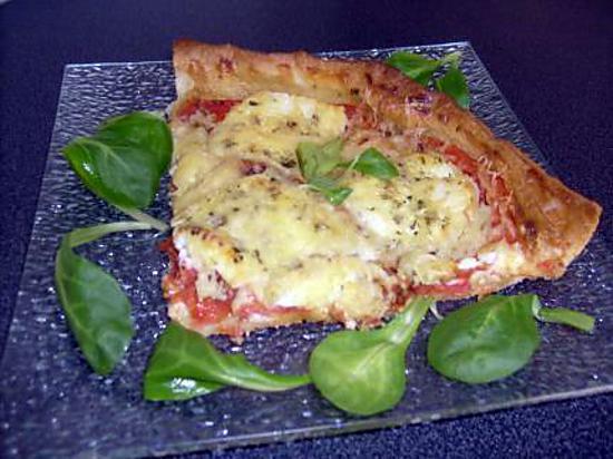 recette Tarte à la Tomate Coeur de Boeuf et au Mothais Charentais