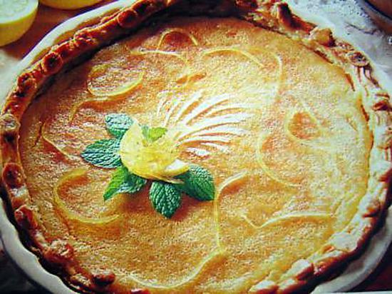 recette Tarte amandes  citronnée