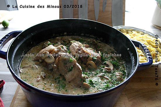 recette Lapin Aux Boulettes et Tagliatelles de ma Grand Mère