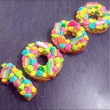 recette Number Cake Rainbow / Bonbons
