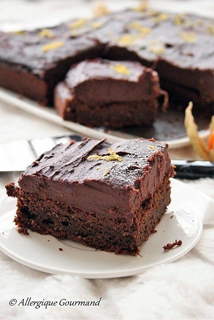 recette Moelleux au chocolat et sa crème de patates douces chocolatée { sans gluten, sans lait, sans oeufs }