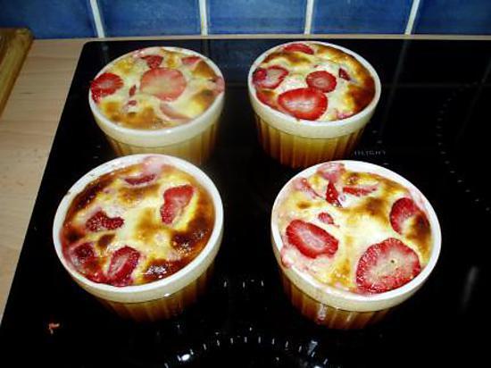 recette gratin de fraises