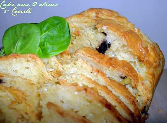 recette Cake aux 2 olives & Comté
