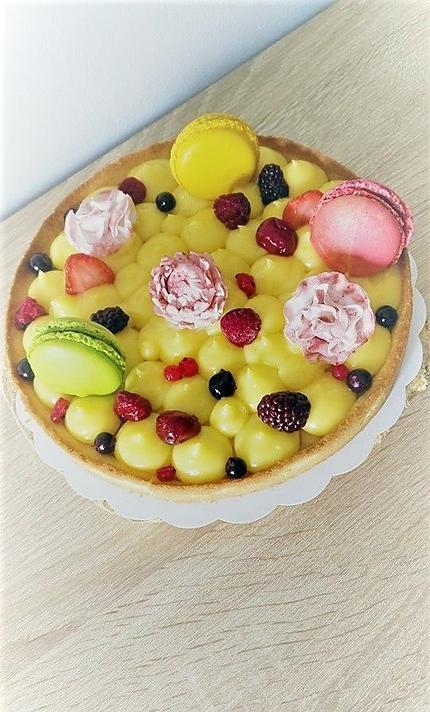recette Tarte au citron façon number cake