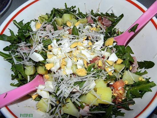 recette Plat de salade des champs