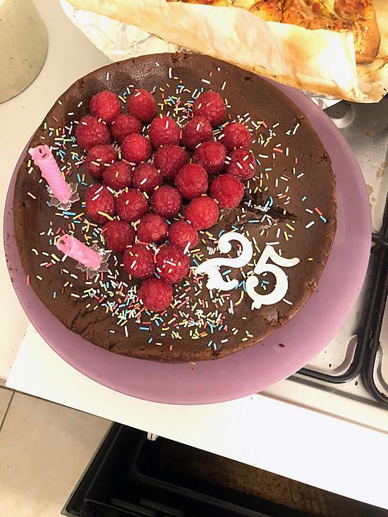 recette Fondant chocolat mascarpone framboise