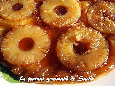 recette Tatin d'ananas au sirop d'érable et gingembre frais
