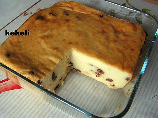 recette Gâteau de semoule au raisins secs