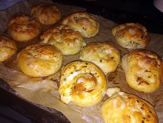 recette Petits pains roulés au fromage