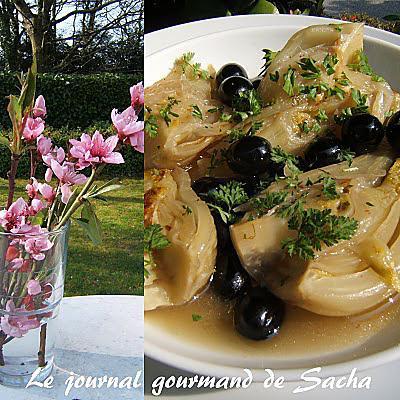recette Fenouil braisé aux olives noires