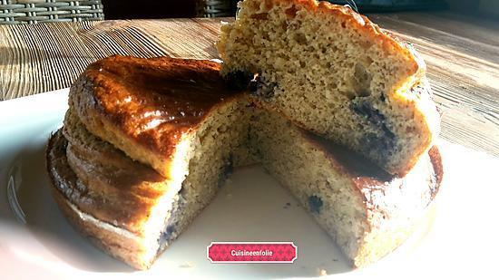 recette Gâteau au yaourt myrtilles amande sans matière grasse et ultra moelleux