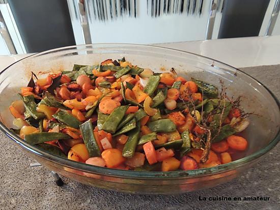 recette Légumes au four cuits à la bière