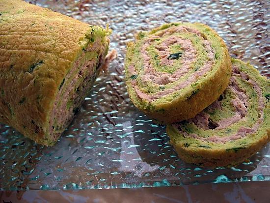recette Roulé de courgettes aux thons super bon :=)