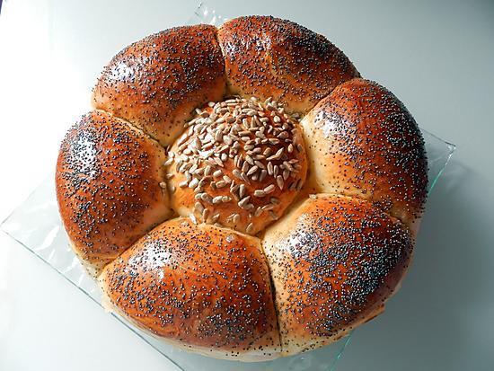 recette Çiçek ekmek - Pain fleur