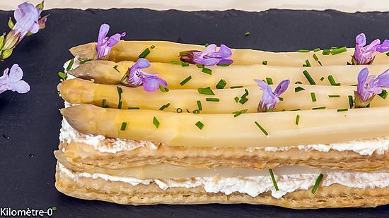 recette Feuilleté d'asperges blanches à la ricotta