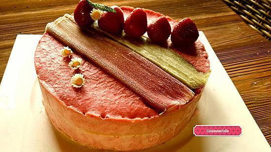 recette Bavarois fraise rhubarbe