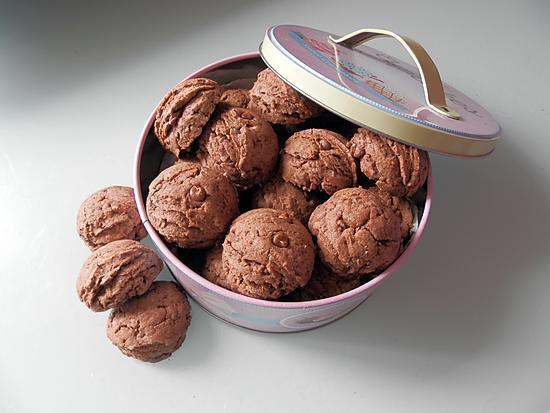 recette Kakaolu dondurma kurabiye - Biscuits au cacao