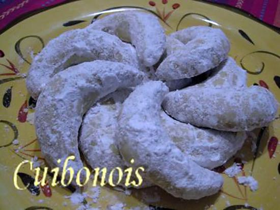 """recette Petits gâteaux de fête  """"Croissants au citron et à la cardamome""""."""