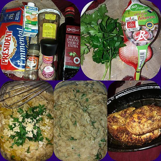 recette Pintade fermière purée de haricots verts