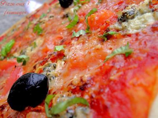 recette Pizza aux 3 fromages