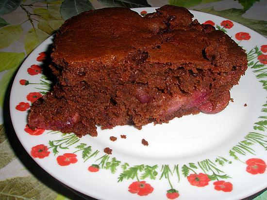recette Brownie au chocolat et cerises Amaretto de Carmen