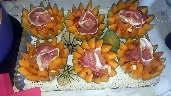 recette Melons garnis