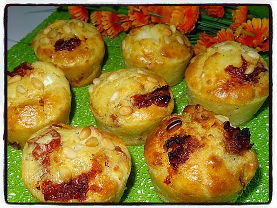 recette Muffins au chèvre et tomates séchées
