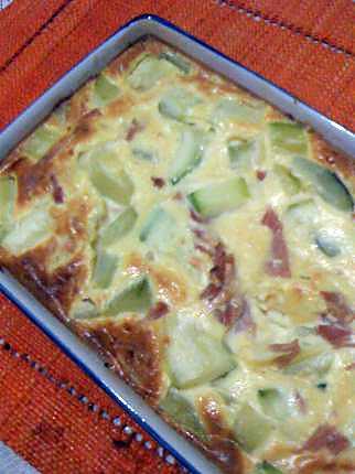 recette FLAN DE COURGETTE ET JAMBON
