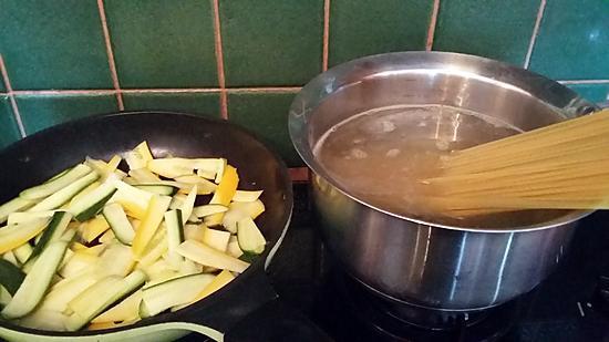 recette Tagliatelles de courgettes aux spaghetti