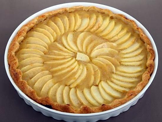 recette Tarte aux pommes / crème fraîche