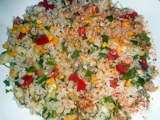 recette Salade de riz aux coques